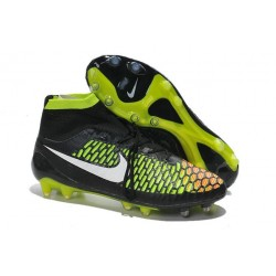 2016 Nike Magista Obra Firm-Ground Soccer Shoes Black Volt Hyper Punch White