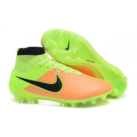 new product 53960 53676 Nike Magista Obra FG Soccer Cleats - Low Price 2016 Leather Canvas Black  Volt