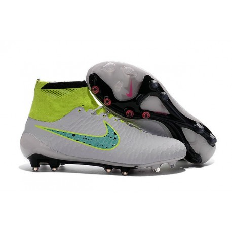 New Shoes - Nike Magista Obra Firm-Ground Football Cleats White Volt Green Black