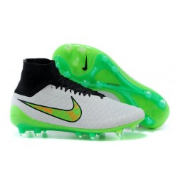 New Shoes - Nike Magista Obra Firm-Ground Football Cleats Green Black White