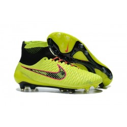 2016 Nike Magista Obra Firm-Ground Soccer Shoes Volt Orange Pink Black