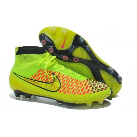 5d4085ecb Nike Magista Obra FG Soccer Cleats - Low Price Volt Metallic Gold Coin Black  Hyper Punch