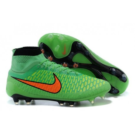New Shoes - Nike Magista Obra Firm-Ground Football Cleats Poison Green Total Orange Black