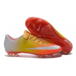 New - NIKE MEN'S Mercurial Vapor 10 FG Orange Yellow Gold White