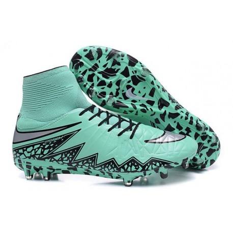 2016 Nike HyperVenom Phantom II FG FG Football Boots Silvery Green Black