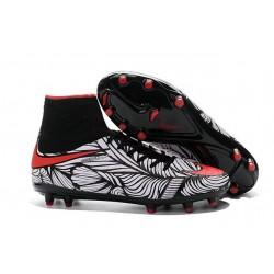 New Soccer Cleats Nike HyperVenom Phantom 2 FG Black Bright Crimson White