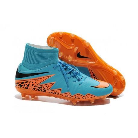 New Soccer Cleats Nike HyperVenom Phantom 2 FG Blue Orange Black