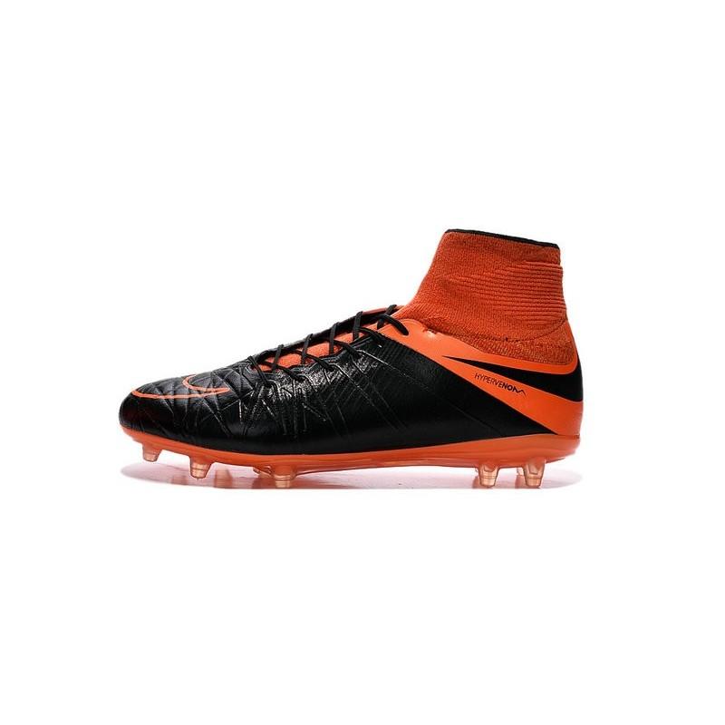 finest selection 7bf29 35ea2 ... new soccer cleats nike hypervenom phantom 2 fg leather black total  orange