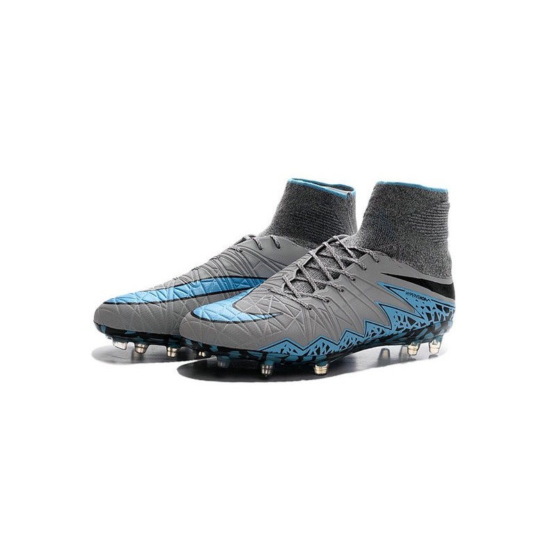 1f9746bc4 Nike HyperVenom Phantom II FG Men s Firm-Ground Soccer Cleats Grey Blue  Black
