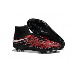 Nike HyperVenom Phantom II FG Men's Firm-Ground Soccer Cleats Robert Lewandowski Black White Red