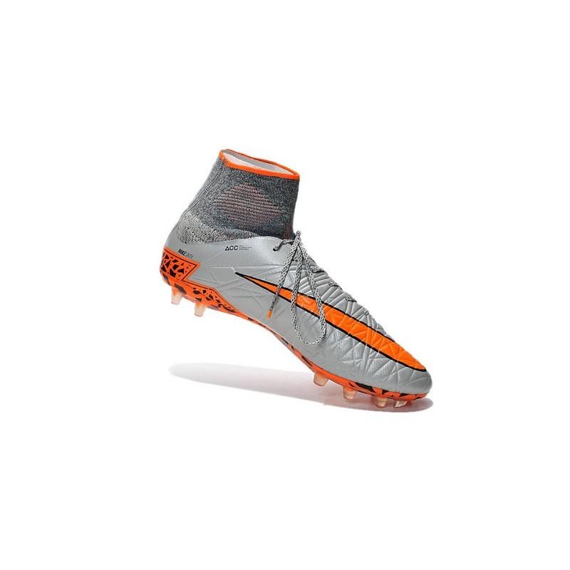 the latest 2fede 33a5a 2016 Nike HyperVenom Phantom II FG FG Football Boots Wolf Grey Black Orange