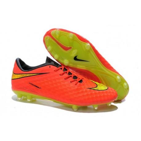 New Soccer Cleats - Nike HyperVenom Phantom FG Crimson Volt Hyper Punch Mtlc