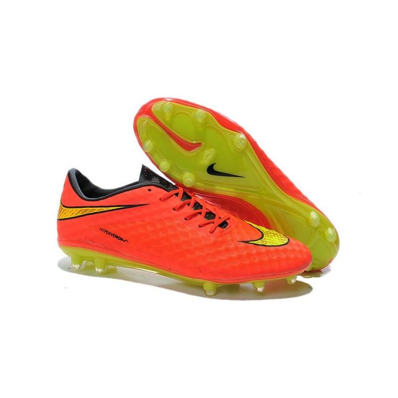 New Soccer Cleats - Nike HyperVenom Phantom FG Crimson Volt Hyper Punch Mtlc 9c08ece09