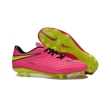 Shoes For Men Nike HyperVenom Phantom FG Football Boots Pink Volt Black