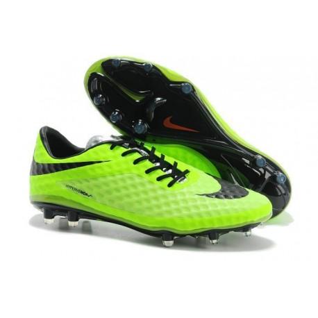 Shoes For Men Nike HyperVenom Phantom FG Football Boots Lime Black