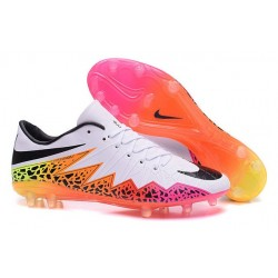 2016 Mens's Soccer Shoes - Nike HyperVenom Phantom FG Premium FG White Orange Pink Black