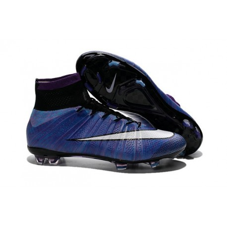 New Nike Mercurial Superfly IV FG Football Shoes Purple White Black