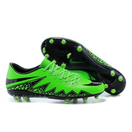 2016 Mens's Soccer Shoes - Nike HyperVenom Phantom FG Green Black