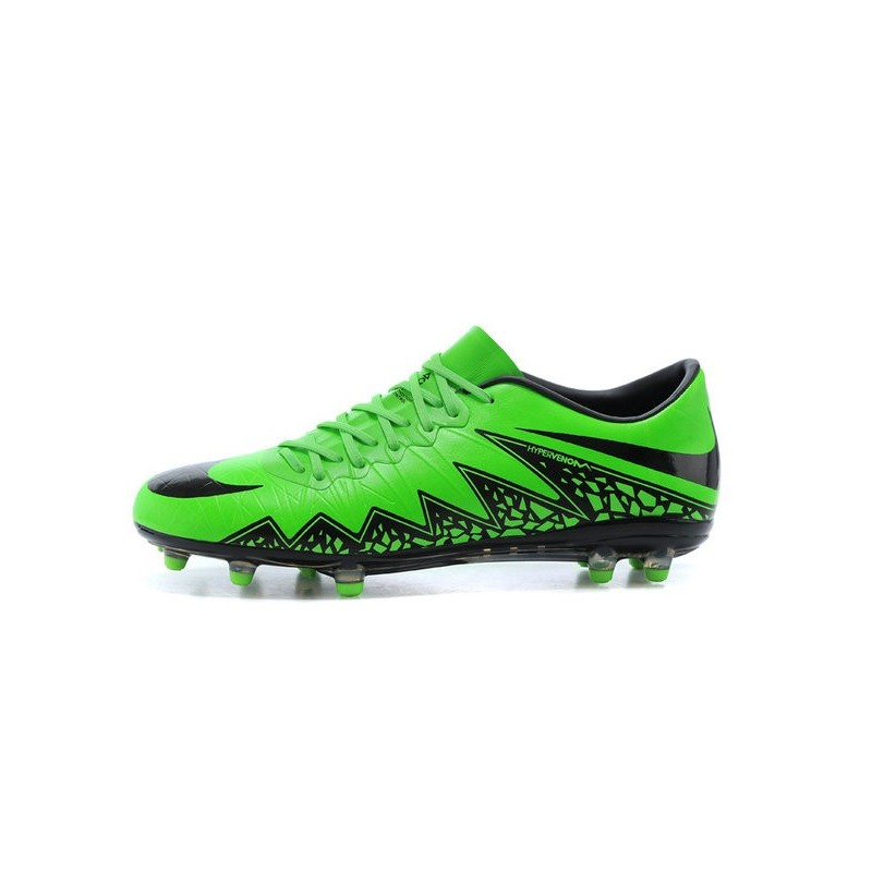2016 Mens s Soccer Shoes - Nike HyperVenom Phantom FG Green Black dc7914e4de2d