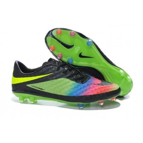 4fda17983e31 New Soccer Cleats - Nike HyperVenom Phantom FG Neymar Premium Black Green  Pink Yellow Blue