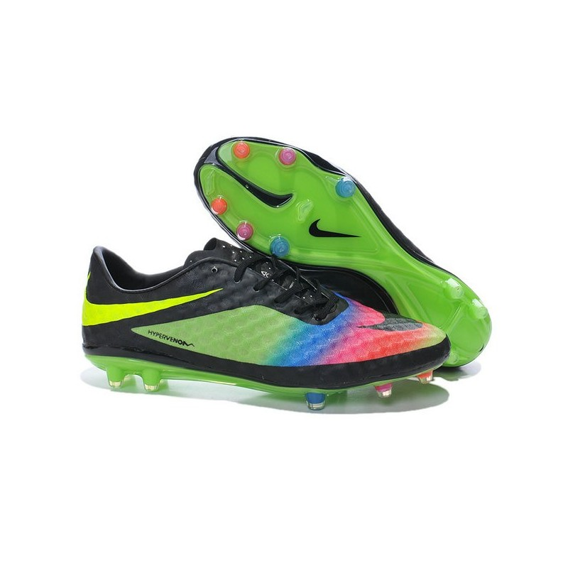 the latest a714d 46b6c New Soccer Cleats - Nike HyperVenom Phantom FG Neymar Premium Black Green  Pink Yellow Blue