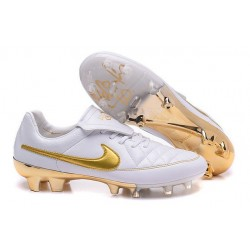 2016 Nike Tiempo Legend V FG Football Shoes R10 White Golden