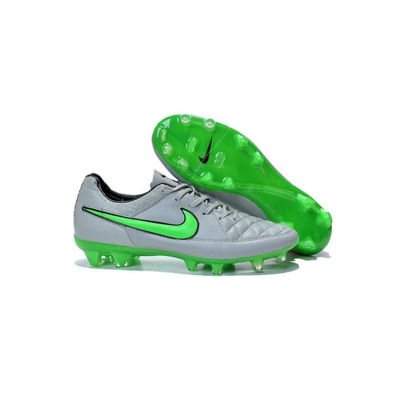 sale retailer 526c2 6ce41 2016 Nike Tiempo Legend V FG Football Shoes Wolf Grey Green Strike Black