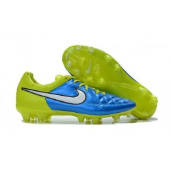 2016 Nike Tiempo Legend V FG Football Shoes Blue Volt White