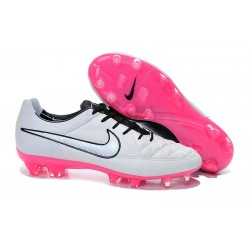 Nike Men's Tiempo Legend V FG Soccer Cleats White Black Pink