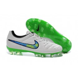 2016 Nike Tiempo Legend V FG Football Shoes White Volt Solar Black