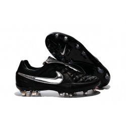 Nike Men's Tiempo Legend V FG Soccer Cleats Totti Premium Silvery Black