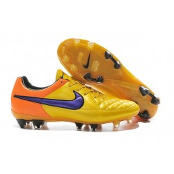 Nike Men's Tiempo Legend V FG Soccer Cleats Laser Orange Persian Violet Total Orange Violet