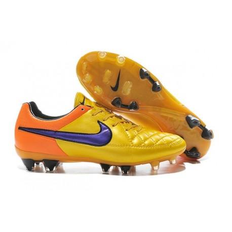 35de1af2e Nike Men s Tiempo Legend V FG Soccer Cleats Laser Orange Persian Violet  Total Orange Violet