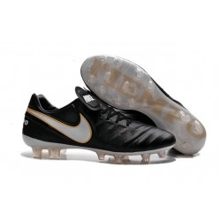 New Shoes - Nike Tiempo Legend VI FG Soccer Cleats Black White Gold