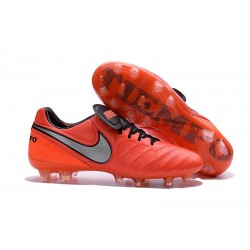 New Shoes - Nike Tiempo Legend VI FG Soccer Cleats Orange Black Grey