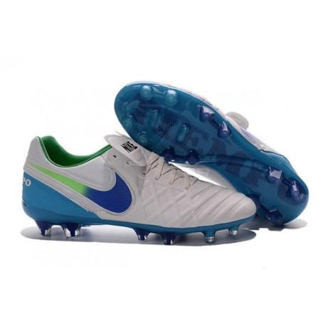 New Shoes - Nike Tiempo Legend VI FG Soccer Cleats White Blue Green