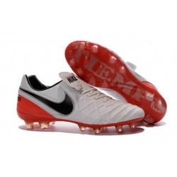 New Shoes - Nike Tiempo Legend VI FG Soccer Cleats White Black Red