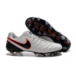 New Shoes - Nike Tiempo Legend VI FG Soccer Cleats Pure Platinum Black Orange