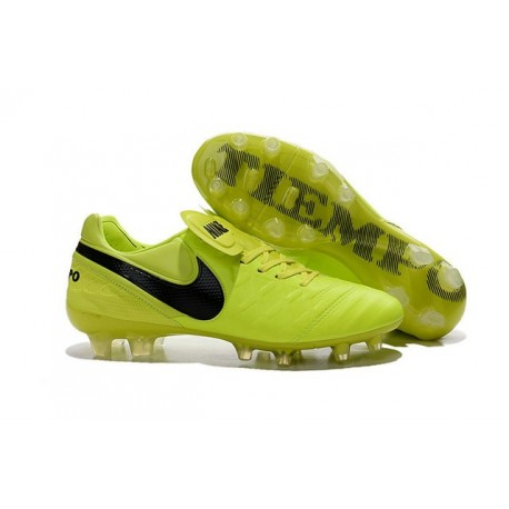 New Shoes - Nike Tiempo Legend VI FG Soccer Cleats Volt Black