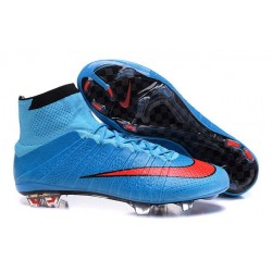 Best Nike Men's Mercurial Superfly IV FG Football Cleats Blue Red Black