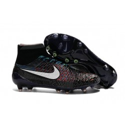 2016 Nike Magista Obra Firm-Ground Soccer Shoes BHM Black White Blue Red