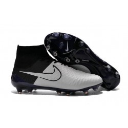 Boots For Men Nike Magista Obra FG Soccer Boots Leather Light Bone Light Bone Black Black