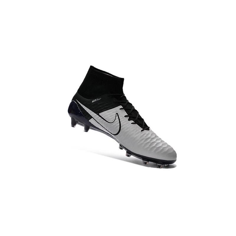 separation shoes cca37 dcae4 Boots For Men Nike Magista Obra FG Soccer Boots Leather Light Bone Light  Bone Black Black