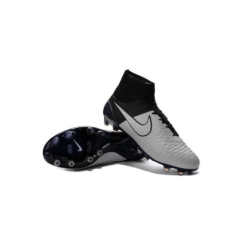 4fccad4fea80 Boots For Men Nike Magista Obra FG Soccer Boots Leather Light Bone Light  Bone Black Black
