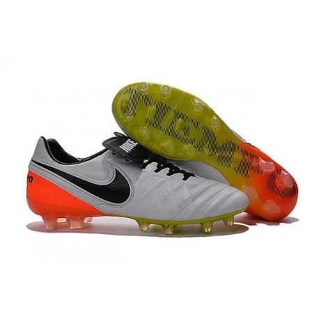 New Shoes - Nike Tiempo Legend VI FG Soccer Cleats White Black Total Orange Volt