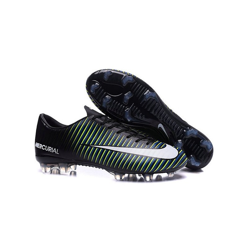 4f108bcf7 2016 new shoes nike mercurial vapor xi fg black white blue volt maximize.  previous.