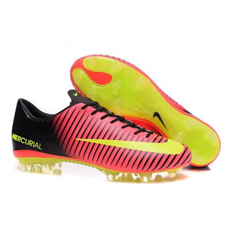 Men's Football Cleats Nike Mercurial Vapor XI FG Total Crimson Volt Black Pink Blast