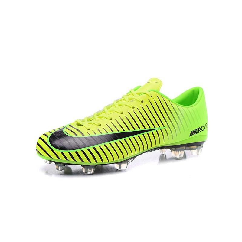 sports shoes 0756f 60e15 Mens Football Cleats Nike Mercurial Vapor XI FG Green Black