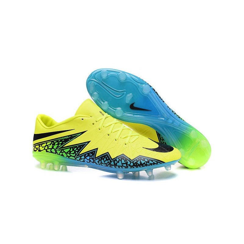 check out 462bd 33c6e Shoes For Men Nike HyperVenom Phinish FG Football Boots Volt Black Hyper  Turquoise