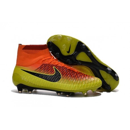 Nike Magista Obra FG Soccer Cleats - Low Price Total Crimson Black Bright Citrus